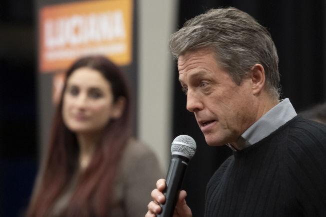 休葛蘭(前)呼籲選民技巧性投票避免保守黨獲勝以阻止脫歐。(美聯社)