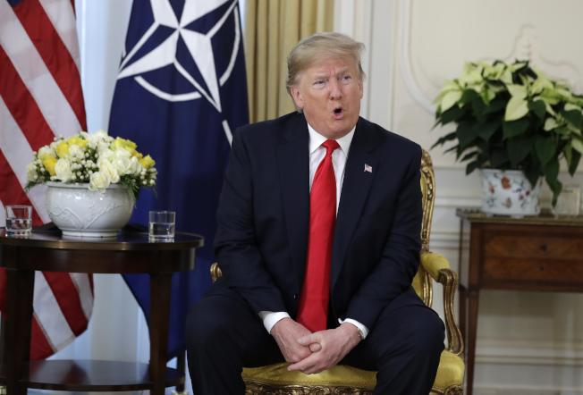 美國總統川普3日在倫敦表示,等到2020年總統大選後與中國達成貿易協議可能比較好。 美聯社