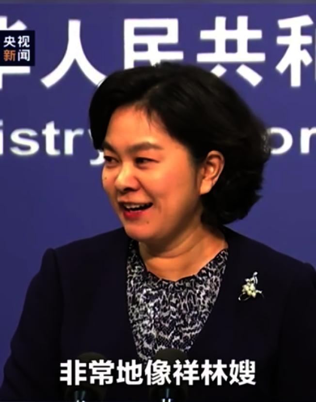 中國外交部發言人華春瑩。翻攝自央視