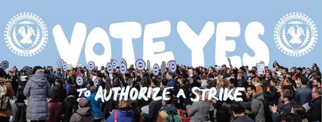 哈佛研究生聯盟成員因與學校未達成合約協議,3日午夜開始罷工。(取自哈佛研究生聯盟臉書)