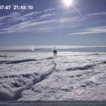 格陵蘭島冰湖無聲消失 無人機記錄過程
