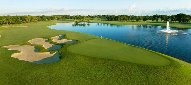 明年6月的G7峰會由美國主辦,川普原本打算在自己旗下位於佛州邁阿密的川普國家多羅高爾夫俱樂部(見圖)舉行,但在被指控透過美國外交活動牟利後,於10月放棄這個想法。擷自Trump National Doral Golf Club