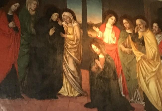 白衣皇后路易絲臥室内的油畫。