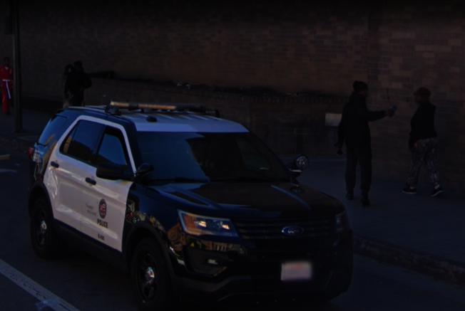 洛市警局中央分局一名警員涉嫌非禮女屍,已被停職調查。圖為中央分局外觀。(Google街景圖)