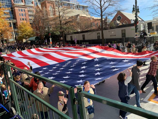 美國國旗。(記者王政賢/攝影)