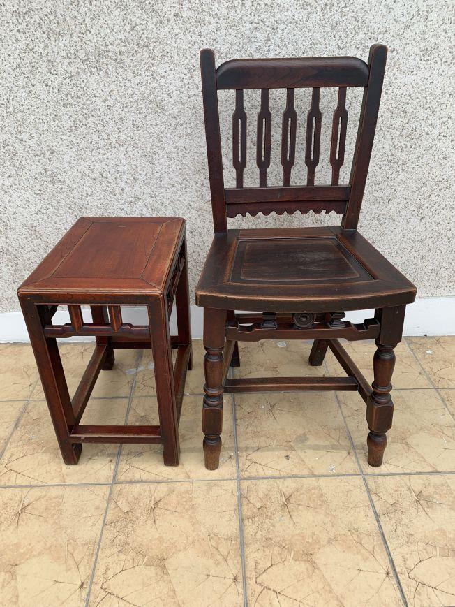 祖父傳下來的舊凳椅。