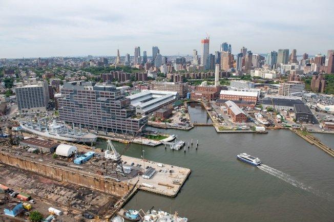 布碌崙海軍造船廠轉型成工業區,將是紐約新興商業區。(取自布碌崙海軍造船廠推特)