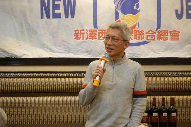 密爾本前學區委員會副主席劉建翔。(記者謝哲澍╱攝影)