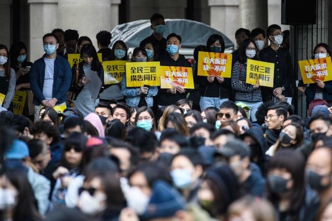 香港示威持續,經濟低迷重創商業活動。(Getty Images)