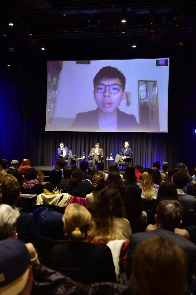 義大利參議院11月28日邀請香港眾志秘書長黃之鋒以視訊方式發表演講。(歐新社)