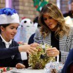 梅蘭妮亞探視倫敦兒童 賀節送禮物 英童讚親切健談