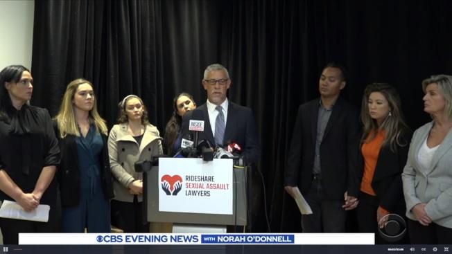 20名遭Lyft司機性侵或性攻擊的女性4日在舊金山對Lyft提出告訴。(電視新聞截圖)