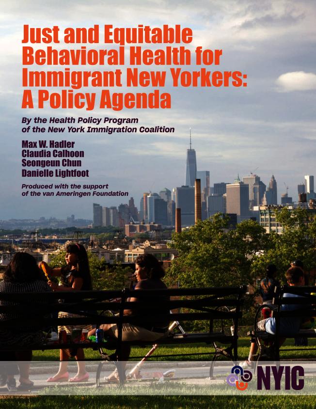 紐約移民聯盟發布的最新報告指出,紐約移民缺乏精神健康服務。(紐約移民聯盟提供)