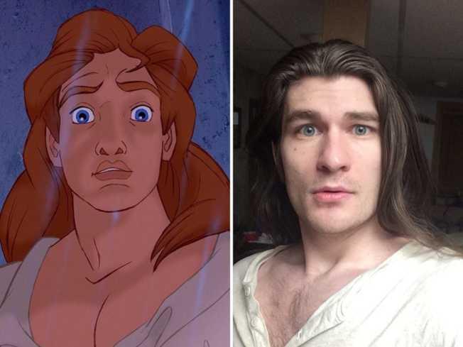 網友把肯達爾的照片和廸士尼王子放在一起,大讚超像。(取自網路)