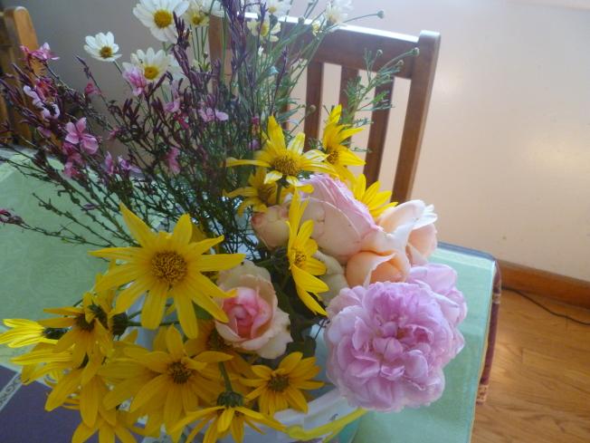 菊芋的花,可以用作插花。