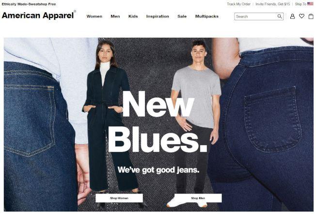 American Apparel以挑逗性廣告著稱(American Apparel官網)