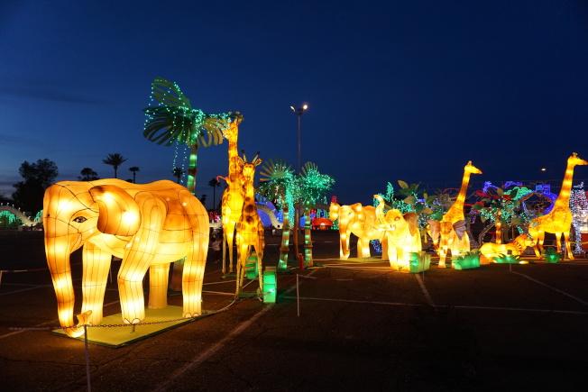 天下華燈嘉年華展結合中國傳統彩燈藝術和當代藝術形式。(主辦方提供)