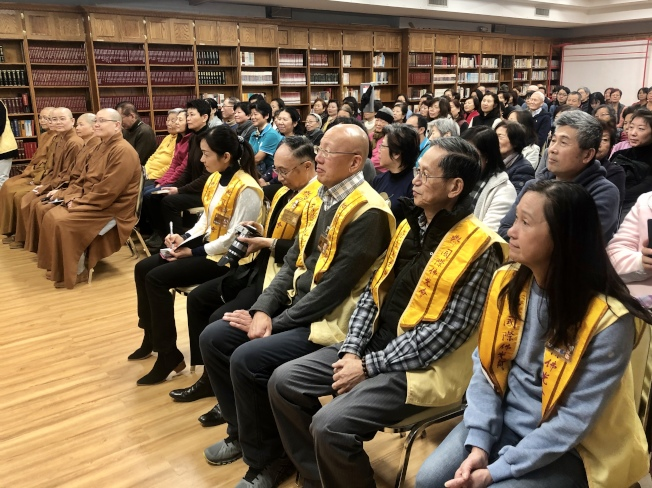 永固法師的「從佛光、到佛光」講座吸引眾多信徒參加。(記者朱蕾/攝影)