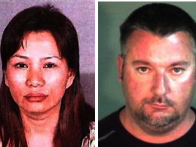 東灣利佛摩警局周三宣布,將一對涉嫌配合賣淫、販賣人口和洗錢的夫婦抓獲,分別為50歲的黃玲玲(左,音譯,Anna Lingling Huang),以及50歲的瓊斯( 右Brian Scott Jones)。(網路圖片)