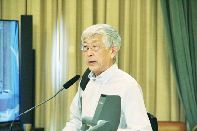華協中心的政策主任藤岡元發言反對SB50,認為將削弱民主程序。(記者李晗/攝影)