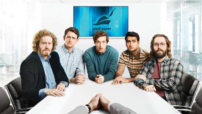 影集「矽谷」(Silicon Valley)的吹笛者團隊。(Getty Images)