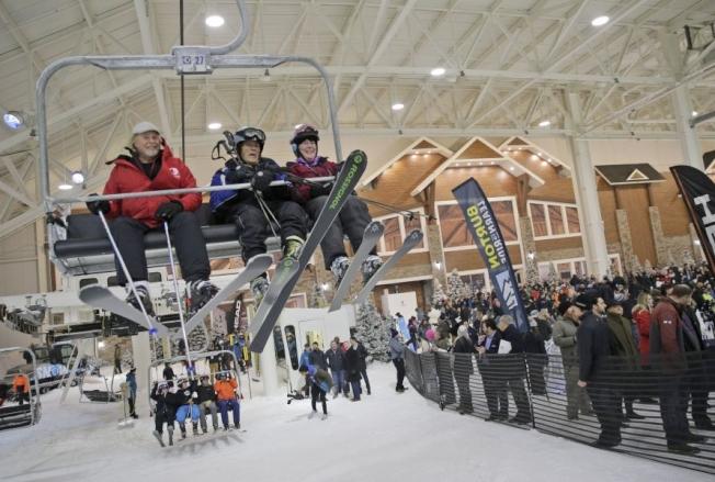 室內滑雪場「Big SNOW」開業。(美聯社)