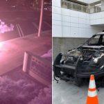 大膽!警局停車場燒警車 西裔青年被捕