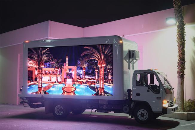 LED廣告宣傳車。(BUYLEDTRUCK.COM官網)