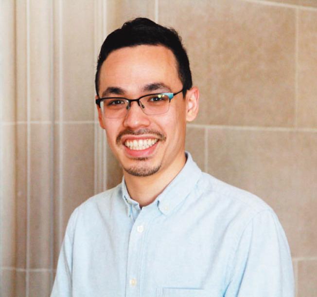 梅天恩參選代表華埠的舊金山第三區市議員,想把「不同的理念」帶入市政廳。(記者李晗/攝影)