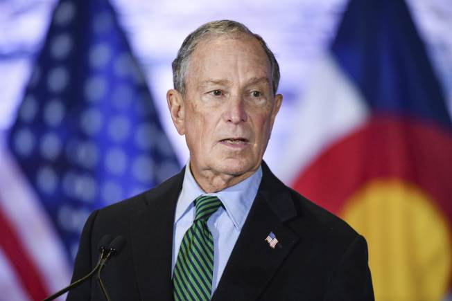 民主黨總統參選人彭博聲稱,參選總統前沒有人向他詢問此事;但事實不然。(Getty Images)