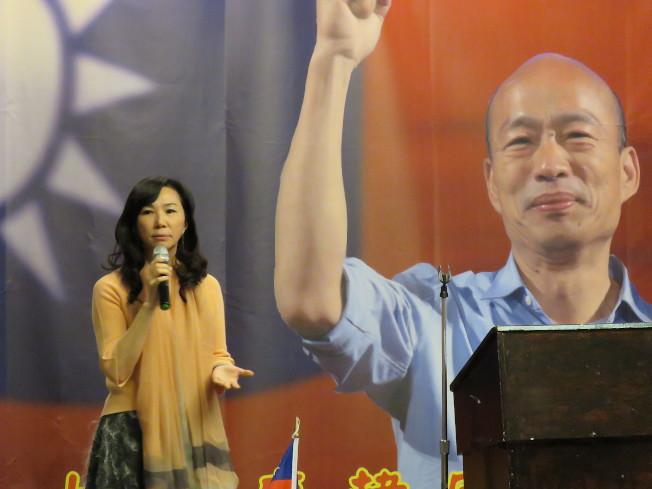 國民黨總統候選人韓國瑜妻子李佳芬訪美,7日出席大華府地區僑團舉行的僑宴。華盛頓記者張加/攝影