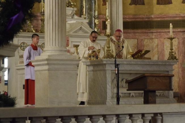 天主教布碌崙教區舉行移民祈禱日,以25種語言為移民禱告。(記者顏潔恩/攝影)