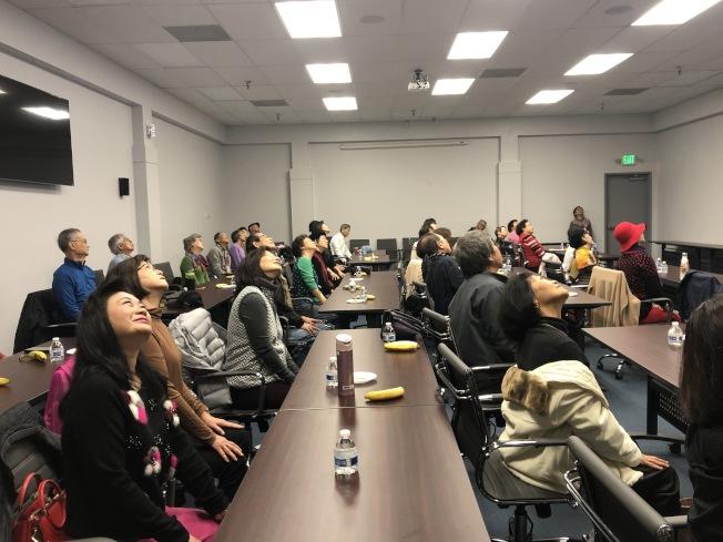 北美洲台灣婦女會南加分會7日在僑教中心舉辦健康講座。(記者張宏/攝影)