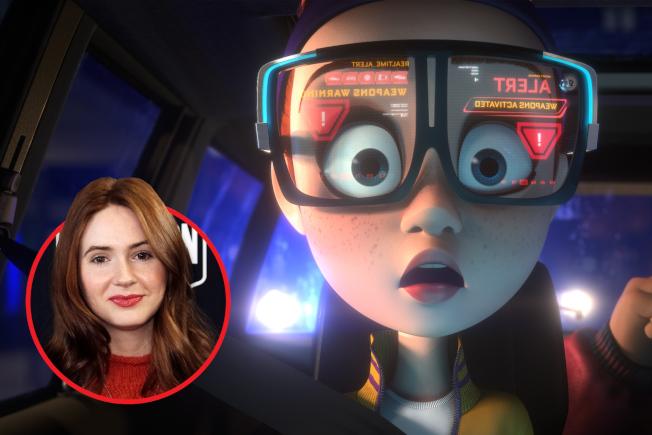 「銀河護衛隊」星雲扮演者凱倫吉蘭也參與本片,為一個女探員配音。(迪士尼圖片)