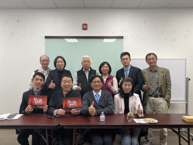 林世賢(前排右二)表示,此趟訪美希望促進彰化與美國城市的商務、產業交流,也盼能與美國城市締結姐妹市,進一步行銷彰化。(記者林亞歆/攝影)