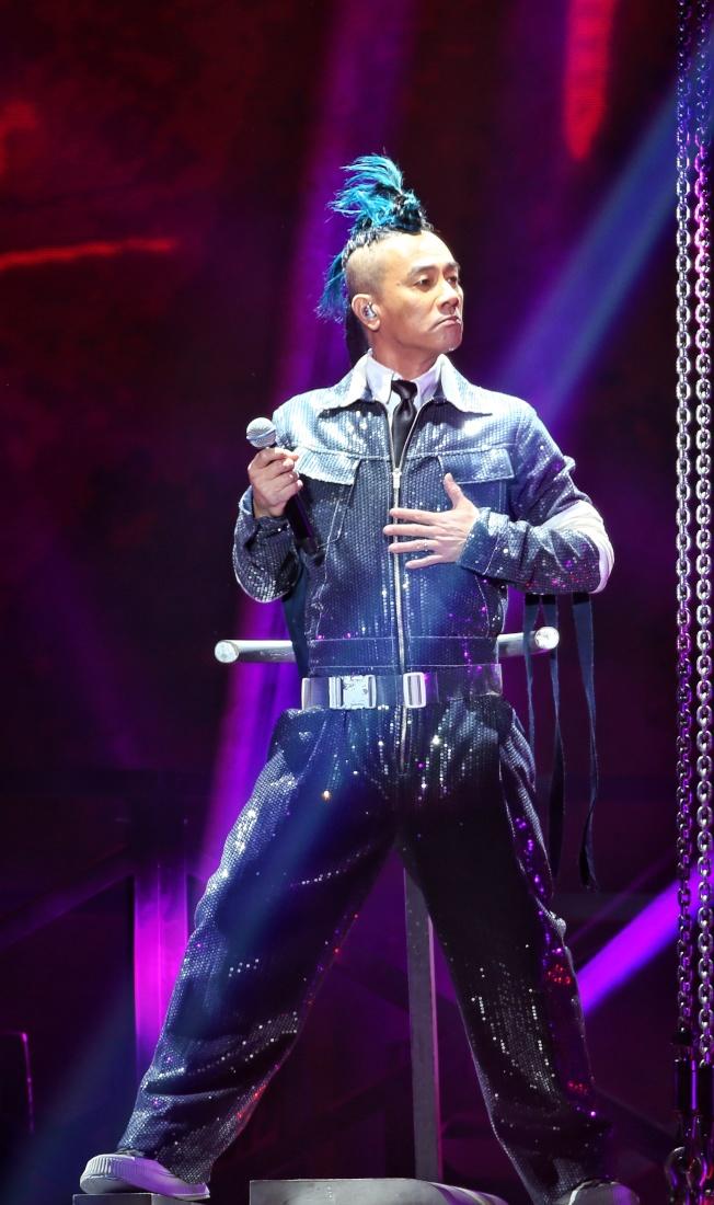 陳小春StopAngry演唱會於林口開唱。(記者曾原信/攝影)