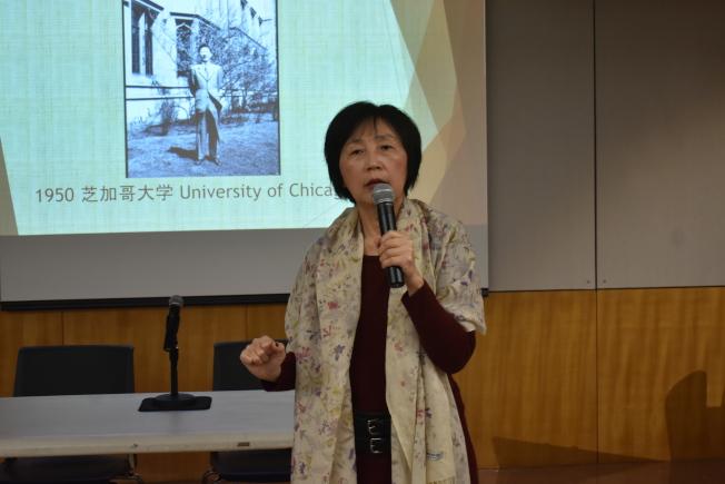 巫寧坤於1951年選擇離開芝加哥大學回國,成為人生轉折點的經歷讓巫一毛感慨交加。(記者黃少華/攝影)