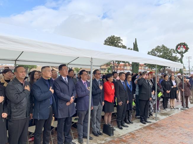 南京大屠殺和珍珠港事件遇難者公祭儀式。(記者王子銘/攝影)