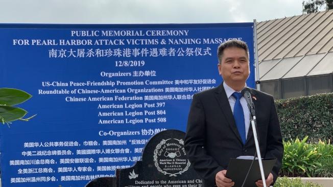 中國駐洛杉磯總領事館僑務領事何明。(記者王子銘/攝影)