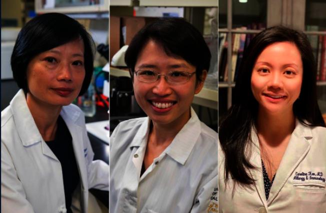 從左至右:Sophie Deng、Yvonne Chen和Caroline Kuo。(圖:UCLA提供)