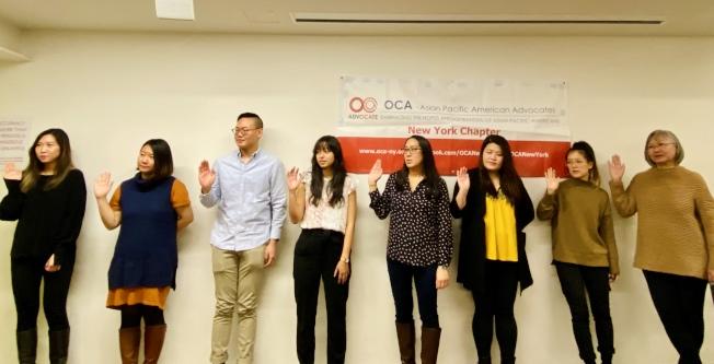 八名新任董事會成員宣誓就職。(記者鄭怡嫣/攝影)