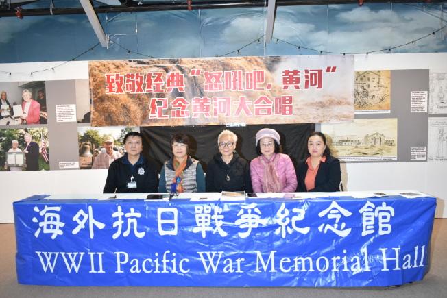 活動籌委會呼籲更多人參加。左起:唐勁輝、李競芬、趙湘君、徐蘭英、陳倩。(記者黃少華/攝影)