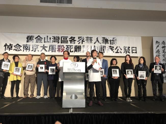 紀念「南京大屠殺」82周年的「南京祭2019」活動8日舉行,現場特別悼念今年去世的12名倖存者。(記者劉先進/攝影)
