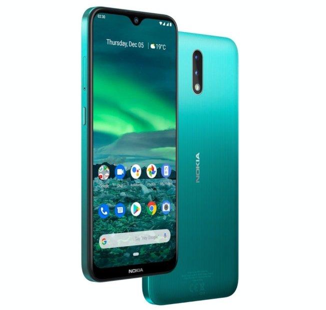 Nokia 2.3分別提供青綠、粉沙與木炭三款配色。(取材自Nokia官網)