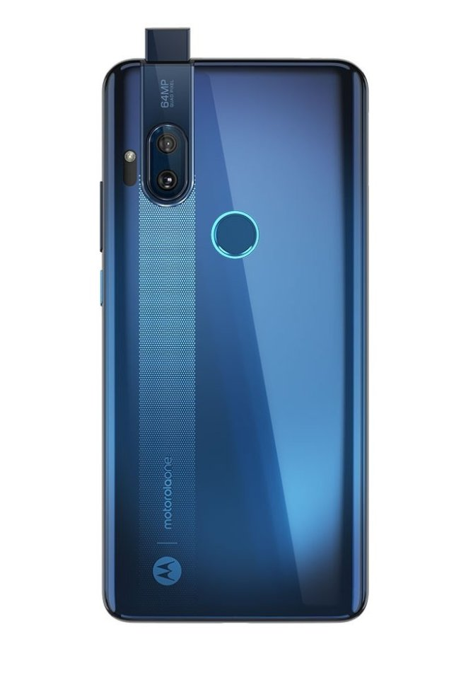 Moto One Hyper以升降鏡頭設計將3200萬畫素視訊鏡頭隱藏在機身內。(取材自Motorola)