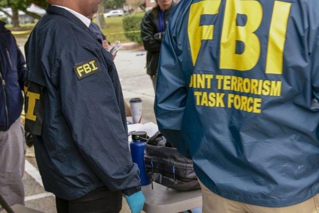 聯邦調查局公布的這幀照片,顯示恐襲聯合調查小組已加入本案調查。(Getty Images)