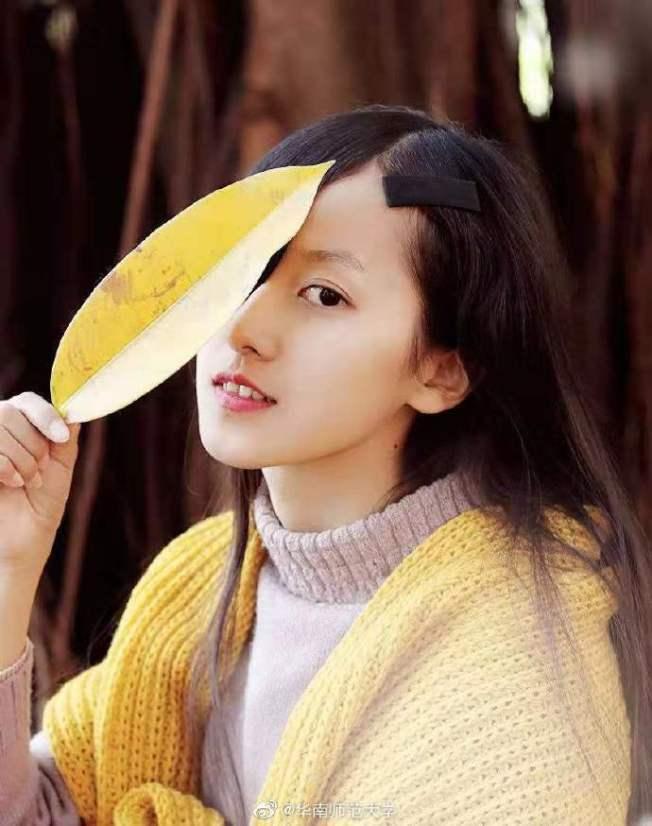 陳曉婷擁有秀麗的長髮和水汪汪的大眼睛,長相相當清秀。圖擷自微博