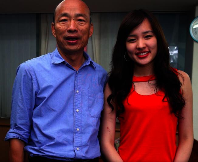 國民黨總統候選人韓國瑜與女兒韓冰。本報資料照片