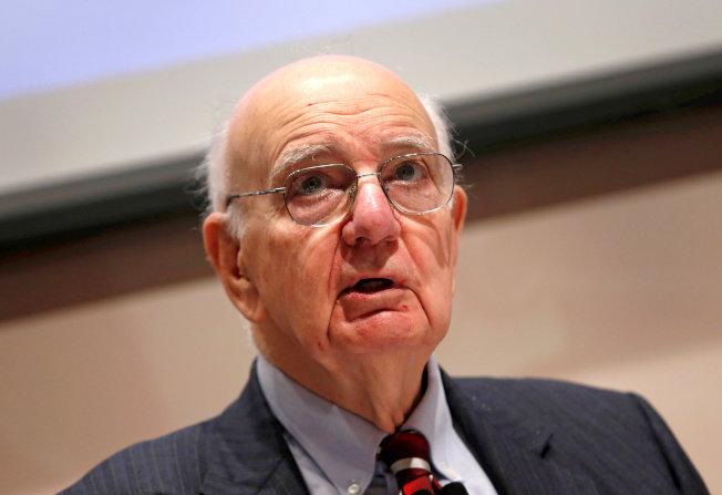 前美國聯準會主席伏克爾8日過世,享壽92歲。   路透