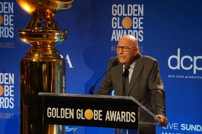 金球獎提名9日公佈,主席Lorenzo Soria出席。(記者馬雲/攝影)